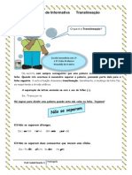 Ficha de Informativa sobre Translineação