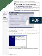 Tutorial sobre Httrack, aplicación de copia de sitios en internet. Universidad de Murcia