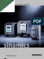 Siemens Drives - SINAMICS G110 Operating Instructions