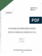 Elaborarea documentatiei economice pentru lucrari de constructii civile