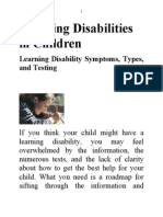 Learning Disabilities in Childd