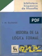 Historia de La Logica Formal Bochenski