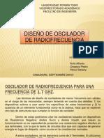 DISEÑO DE OSCILADOR de radiofrecuencia