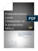 Postmodernismo y Post-cristianismo...1