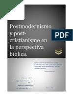 Postmodernismo y Post-cristianismo...1