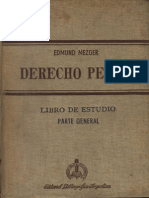 Derecho-Penal-Parte-General - Mezger - Trad. Argentina 1958