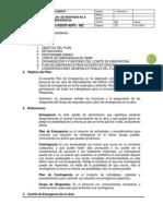 PLAN DE RESPUESTA A EMERGENCIAS Versión 02