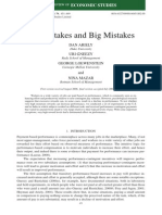 Ariely - Large Stakes and Big Mistakes
