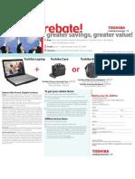 Rebate Toshiba Pcpluscase 063009