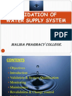 Water System Validation