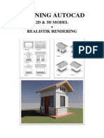 Training Autocad 2d 3d Rendering