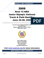 aau area 12 2009 event details  schedules
