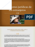 Condiciones jurídicas de los extranjeros  EXPOCION