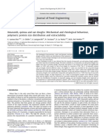 Amaranth, Quinoa and Oat Doughs Mechanical and Rheological Behaviour