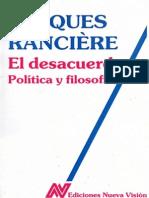 Jacques Rancière - El desacuerdo. Politica y filosofía