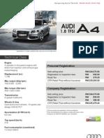 Audi A4 1.8 TSFI  - Malaysian Variant