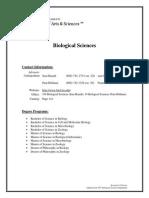 Biological Sciences 2009-2010