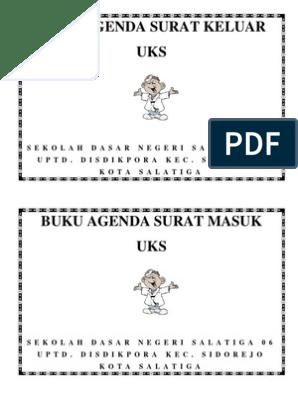 Buku Agenda Surat Keluar Administrasi Uks