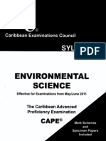 environmental Science CAPE syllabus