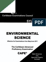 environmental Science CAPE syllabus