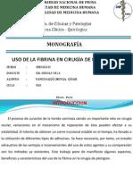 Uso de La Fibrina en Qx de Pterigion