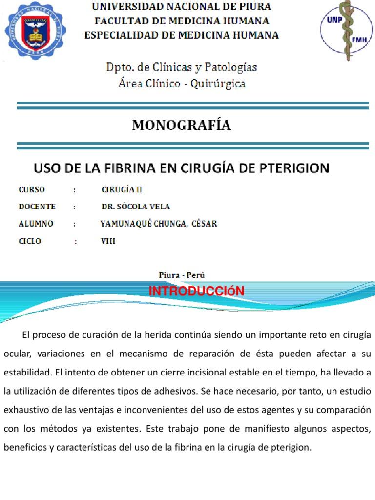 Cirugia De Pterigion Pdf