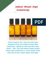 Cara Membuat Minyak Angin Aromaterapi