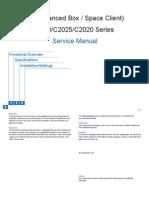 Canon Network (Advanced Box / Space Client) iR ADV C2030/C2025/C2020 Series Service Manual