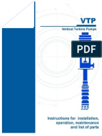 Instruction for Installation Guidelines Vertical Turbine Pump