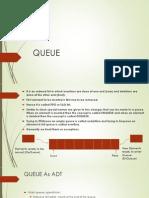 Queue data structure