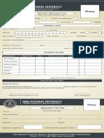 Admission Form Fall 13