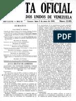 Gaceta Oficial 3 de Enero 1949 Pagina 1