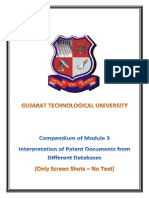 Compendium of Module 3- Interpretation of Patent Documents From Different Databases