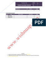 OHSAS Prosedur Manajemen Perubahan
