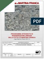 Documento Programmatico Rigenerazione Urbana Martina Franca