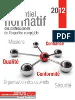 Plaquette référentiel normatif 2012