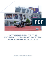 Introduction to the Incident Command System for Higher Education