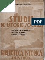 Studii Istorie Sociala Despre Romani Si Despre Boieri