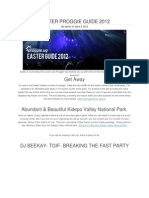 Easter Proggie Guide 2012