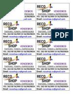 Cartao Recoshop 2013