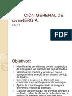 cap-7 ECUACIÓN GENERAL DE LA ENERGÍA
