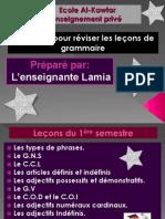Exercices pour réviser les leçons de la grammaire 6AP