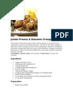 Jumbo Prawns & Balsamic-Orange Onions