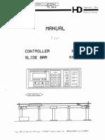 HD 050 Slidebar Manual