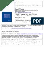 Fishman, Joel.bds Israel Affairs