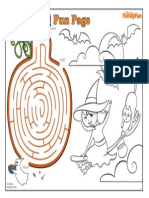 Halloween Coloring Pages Maze Printable 0910