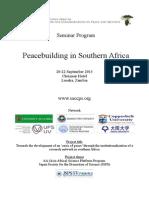 Program (SACCPS Peacebuilding Seminar
