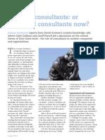 No more consultants
