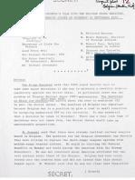 Vertrouwelijk verslag van de vergadering in 1979 tussen België en Groot-Brittannië over kernwapens
