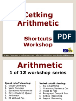 Arithmetic Shortcuts Cetking Workshop